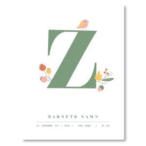 Namnposter - Z