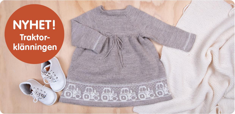 Babystickning - traktorklänningen
