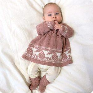 "Bluum stickad klänning - ""Bambi"""