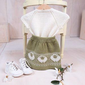 Bluum stickad kjol och topp - Lamm