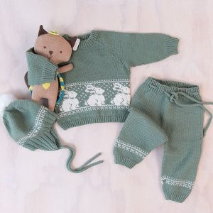Bluum stickningsset - Kanin i Baby ull