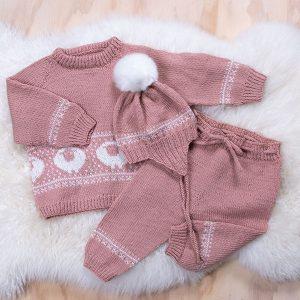 Bluum stickningsset - Lammet Eco Baby ull