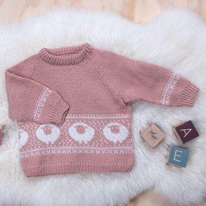 Bluum stickningsset - Lammet Baby ull
