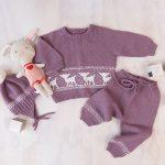 Bluum stickningsset - Bambi i Baby ull