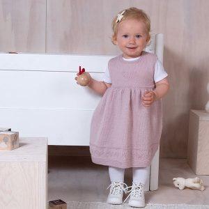 Bluum klänning med hjärtan i Pure Eco baby Wool