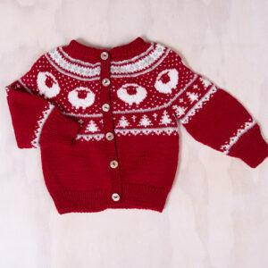 Bluum stickning - Lammet jacka- Pure Eco Baby Wool