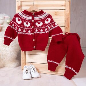 Bluum stickningsset - Lammet jacka+byxor- Pure Eco Baby Wool