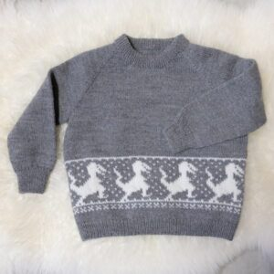 Bluum stickad tröja - Dinosaurientröjan i Pure Eco Baby Wool