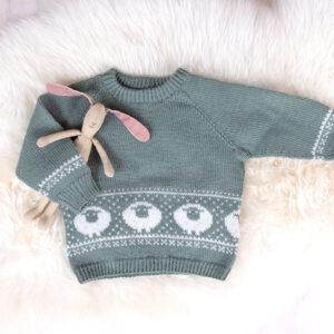 Bluum stickad tröja - Lammet i Pure Eco Baby Wool