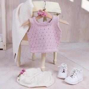 Bluum stickning- Topp och ballongbyxor i Pure Eco Baby Wool