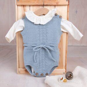 Bluum stickning - 2 Bodys Hardanger-mönster i Pure Eco baby Wool