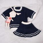 Bluum stickning - Sailor set m/kjol i Pure Eco Baby Wool