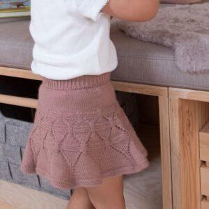 Sirissima stickning - Ylva danskjol i Pure Eco Baby Wool