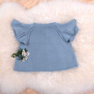 Sirissima stickning - Sommarfågeltopp i Pure Eco Baby Wool