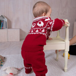 Bluum stickningsset - Lammet jacka och byxor i Pure Eco Baby Wool