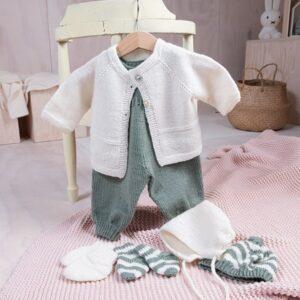 Bluum babyset med hjartan - i Pure Eco baby Wool