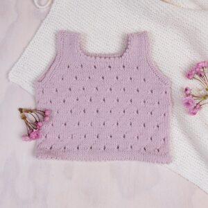 Bluum stickning - 2 Toppar i Pure Eco Baby Wool