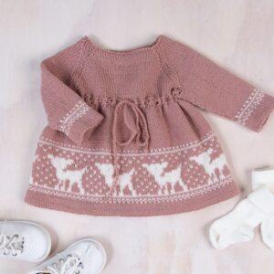 Bluum stickad klänning - Bambi i Pure Eco Baby Wool