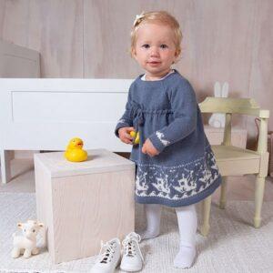 Bluum stickad klänning - Fiskebåt - Pure Eco Baby Wool