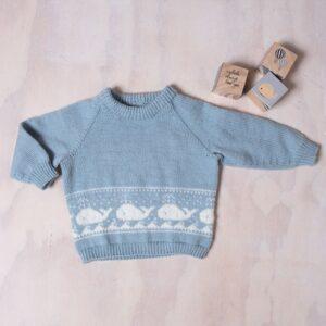 Bluum stickad tröja - Val-tröja i Pure Eco Baby Wool