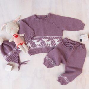 Bluum stickningsset - Bambi i Pure Eco Baby Wool
