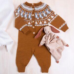 Bluum stickad dress - Räv i Pure Eco Baby Wool