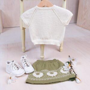 Bluum stickad kjol och topp - Lammet i Pure Eco Baby Wool