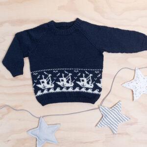 Bluum stickad tröja - Fiskebåt i Pure Eco Baby Wool