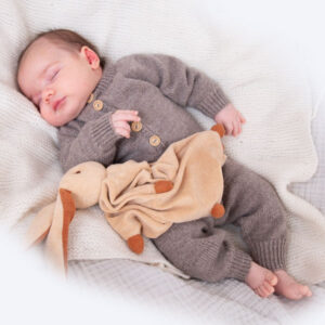 Bluum stickad dress med raglan i Pure Eco Baby Wool
