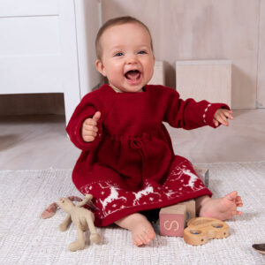 Bluum stickning - Ren-klänning i Pure Eco Baby Wool