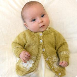 Bluum stickning - Kanin-jacka i Pure Eco Baby Wool