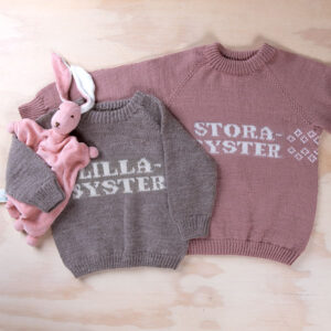 Bluum stickad tröja - Lillasyster i Pure Eco Baby Wool