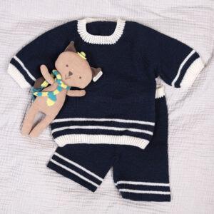 Bluum stickning - Sjömansset m/shorts i Pure Eco Baby Wool