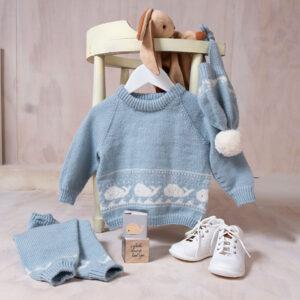 Bluum stickningsset - Val i Pure Eco Baby Wool