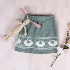 Bluum stickad kjol - Lammet i Pure Eco Baby Wool