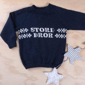 Bluum stickad tröja - Storebror i Pure Eco Baby Wool