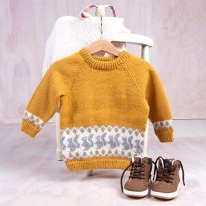 Bluum stickad tröja - Ekorre i Pure Eco Baby Wool