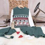 Bluum stickning - Julväst 5 frg m/kjol och tomteluva Pure Eco Baby Wool