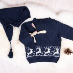 Bluum stickning - Rentröja med tomteluva i Pure Eco Baby Wool