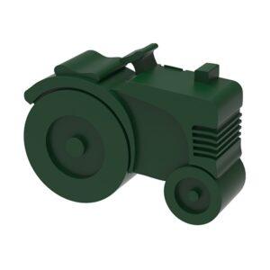 Matlåda, två fack - traktor (grön)