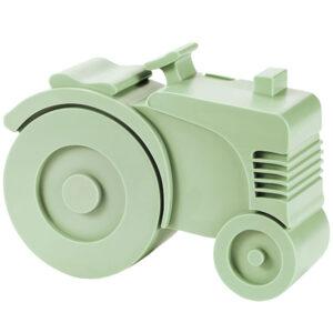Matlåda, två fack - traktor (ljusgrön)