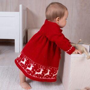 Bluum stickning - Renklänning och tomteluva i Soft Merino Ull